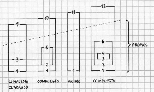 Números Primos - La parejas de factores